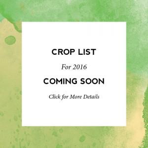 2016 CSA Crop List
